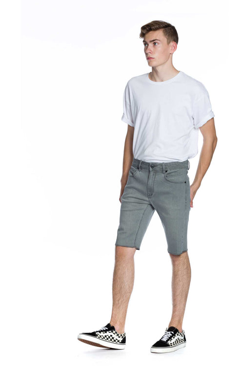 Now Denim Short - Heath. Grey