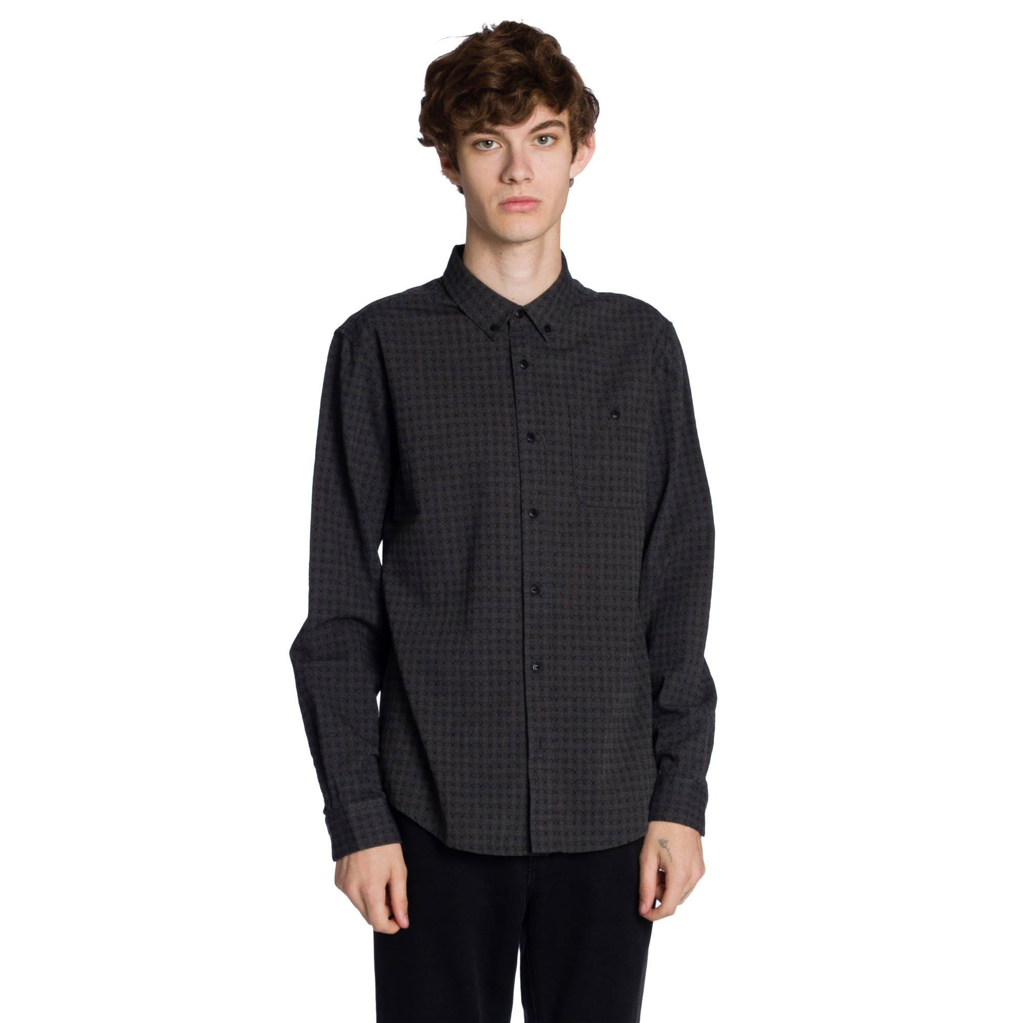 Franklin Long Sleeve Shirt - Black