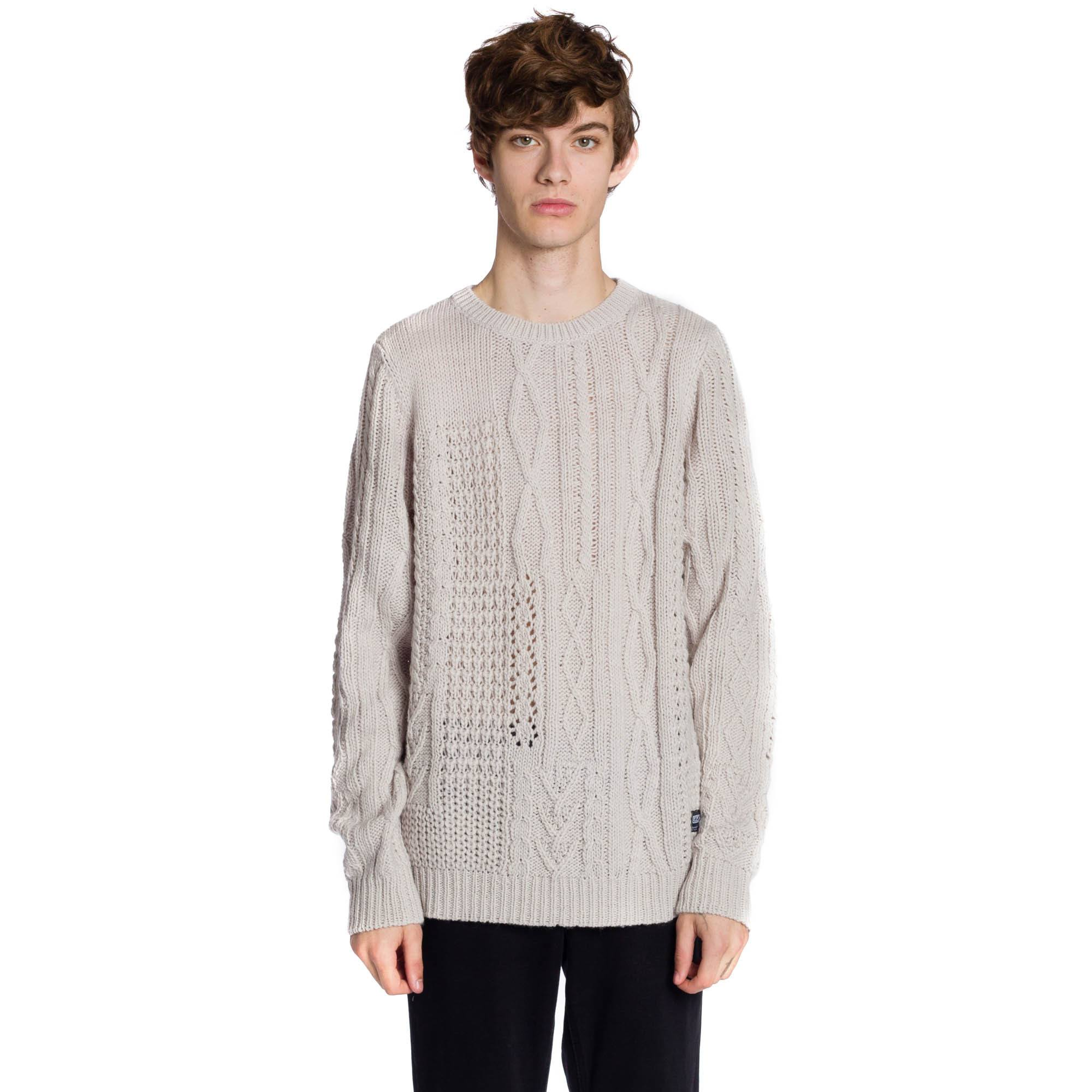 Mixed Up Long Sleeve Sweater - Ivory
