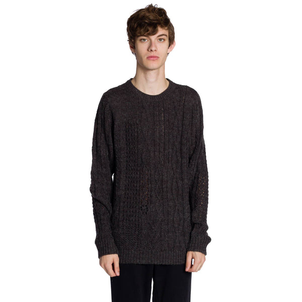 Mixed Up Long Sleeve Sweater - Heather Charcoal