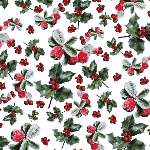 Pattern of holly berries