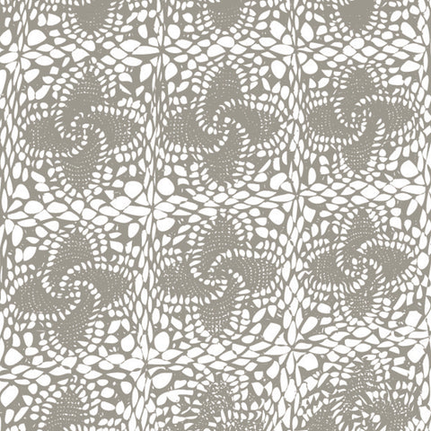Pattern of olive green tatted lace