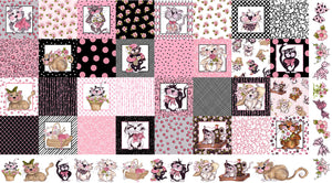 Medley Fancy Cats Fabric Panel