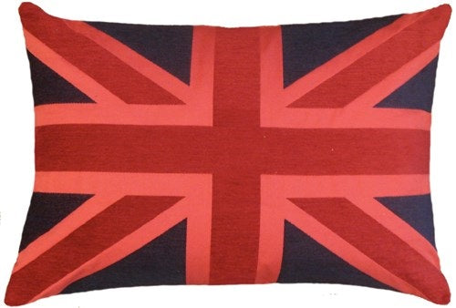 Union Jack Club Cushion 45x65 red