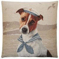 Marine Dogs Sailor cushion 45x45 beige