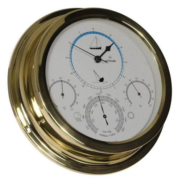 Altitude - Barometer/Thermometer/ Hygrometer - Messing - 224 mm