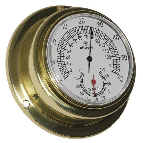 Altitude Thermometer/Hygrometer - Messing - 95 mm