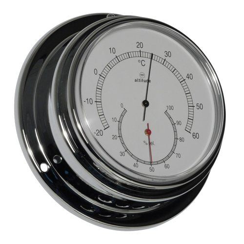 Altitude Thermometer/Hygrometer - Chroom - 125 mm