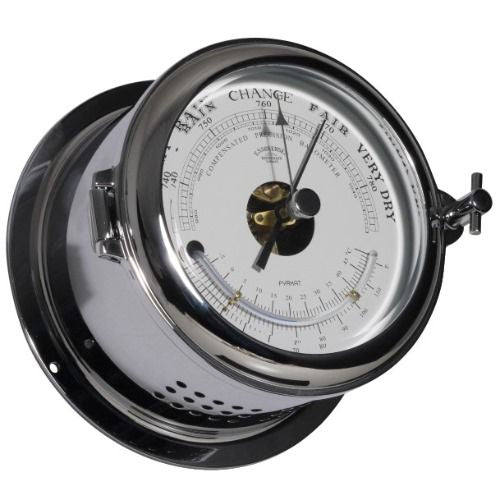 Schatz - Baro- / Thermometer - Chroom - 140 mm
