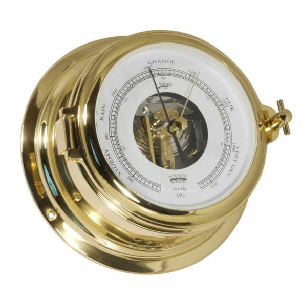 '- Barometer - Messing - Open Wijzerplaat -  155 mm