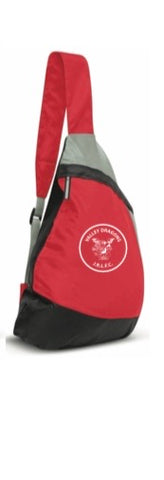 Red & Grey sling backpacks