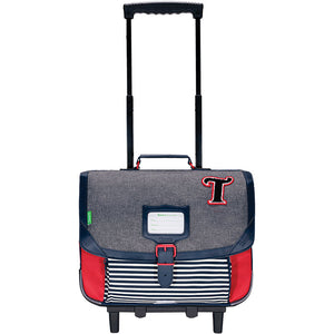 Cartable trolley Teddy Chiné 38cm Tann's
