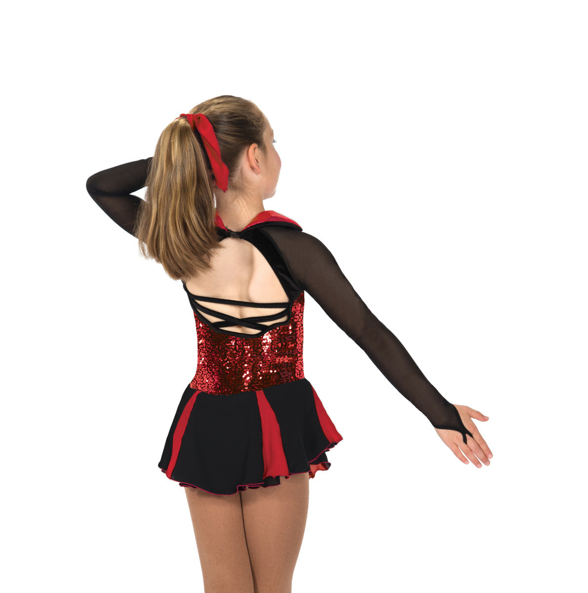 72 Razzamatazz Red & Black Ice Skating Dress by Jerry's