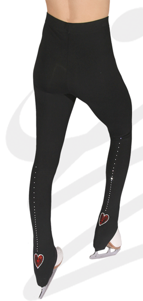 "Gees Active Leggings - BOH Hearts  28"" - 32"" Senior"