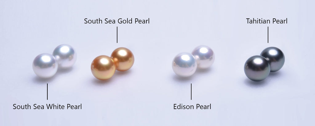 Difference of Tahitian Pearl vs South Sea Pearl vs Edison Pearl