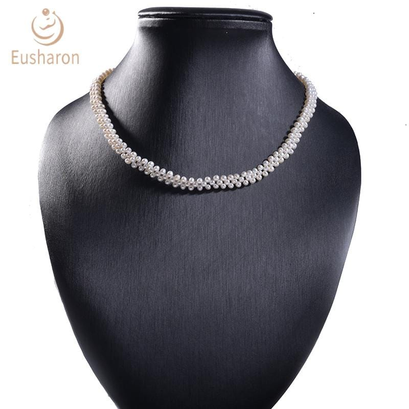 Wholesale hand knitted pearl neckalce