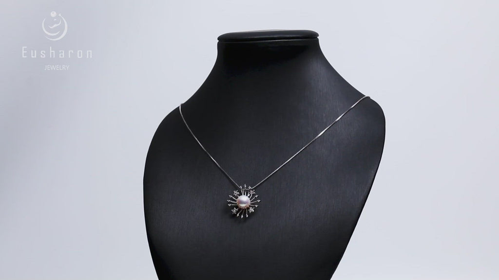 wholesale romantic sterling silver sun pearl pendant