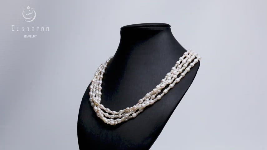 wholesale layered pearl necklaces