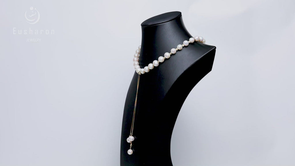 wholesale gold plated pearl necklace