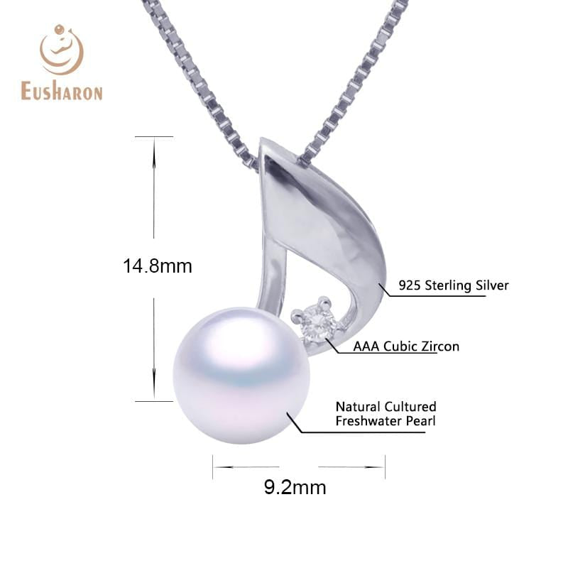 music note freshwater pearl pendant wholesale
