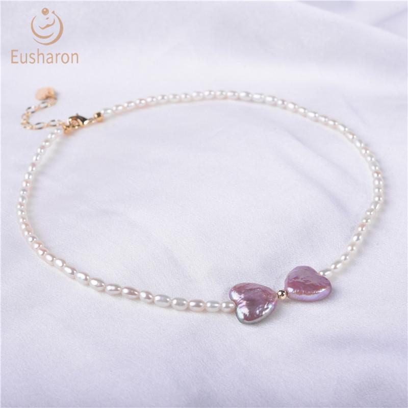 heart pearl necklace wholesale