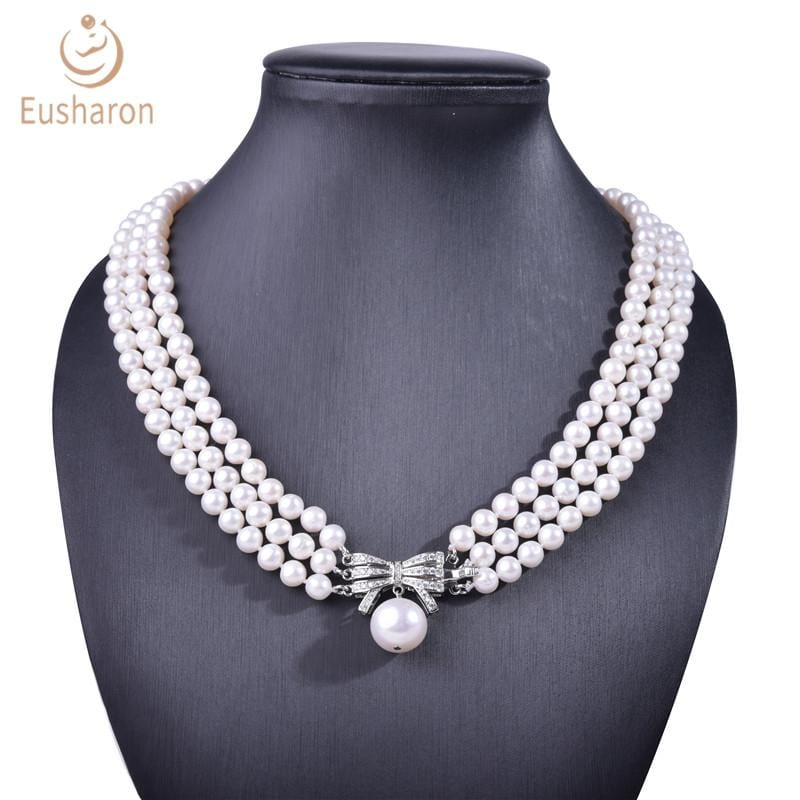 three strand pearl necklace wholesale