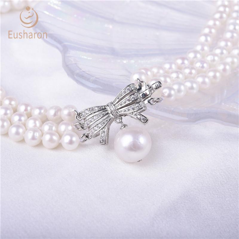 pearl necklace with bow clasp wholesale