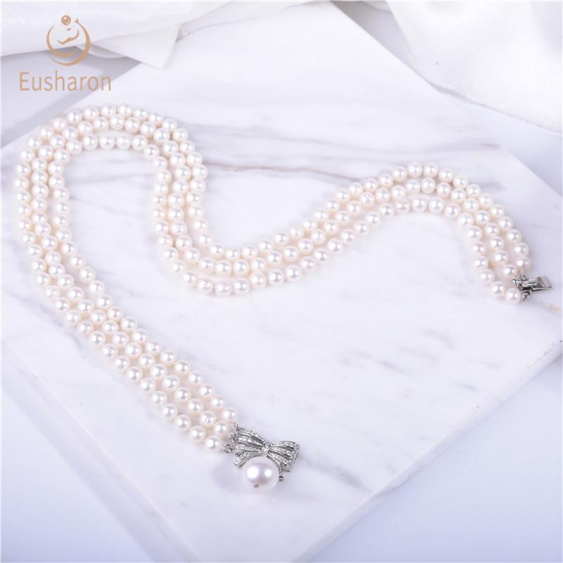 trendy pearl neckalce wholesale