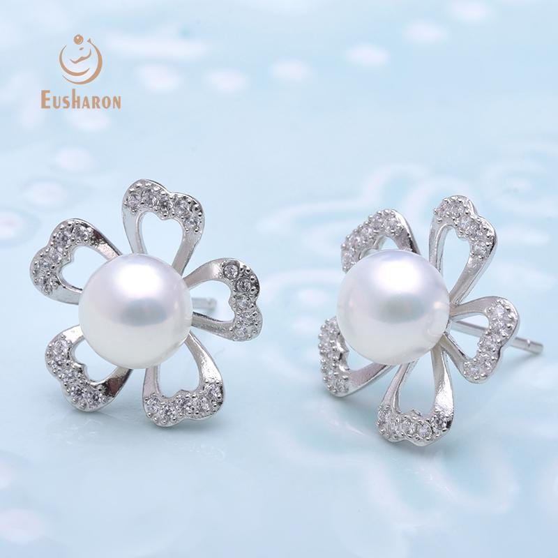cherry blossoms flower freshwater pearl studs