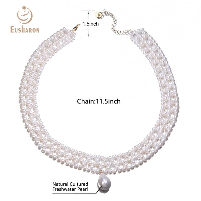 wholesale hand-knitted freshwater pearl chokers