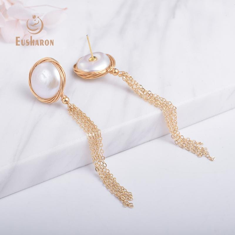 baroque pearl earrings wholesale