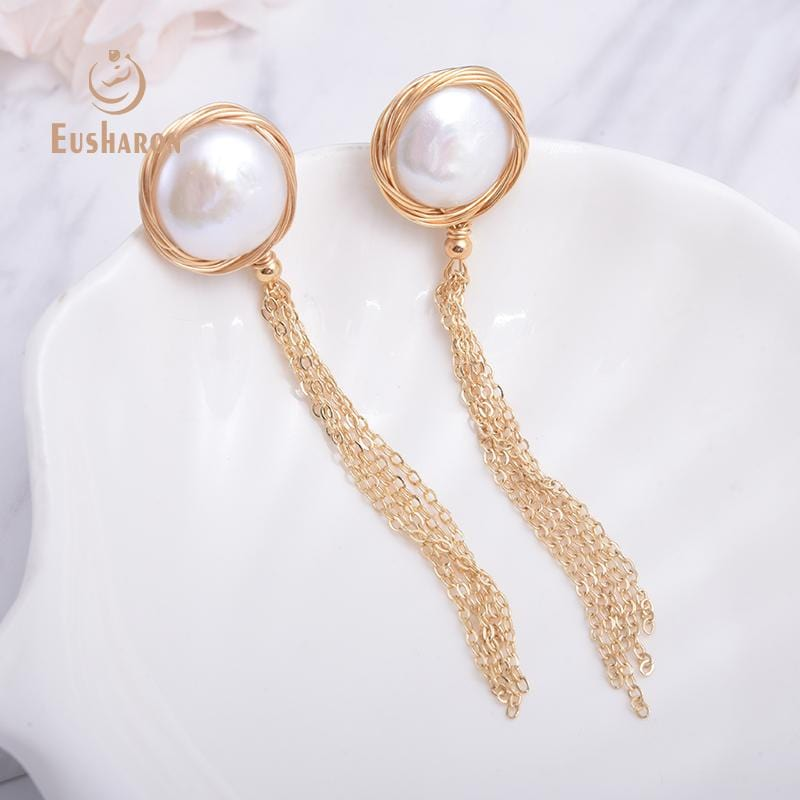 handmade pearl earrings wholesale