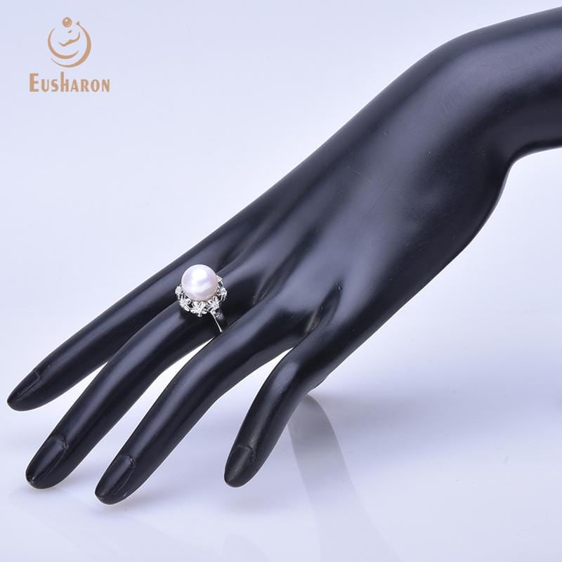 flower cultured pearl ring wholesale