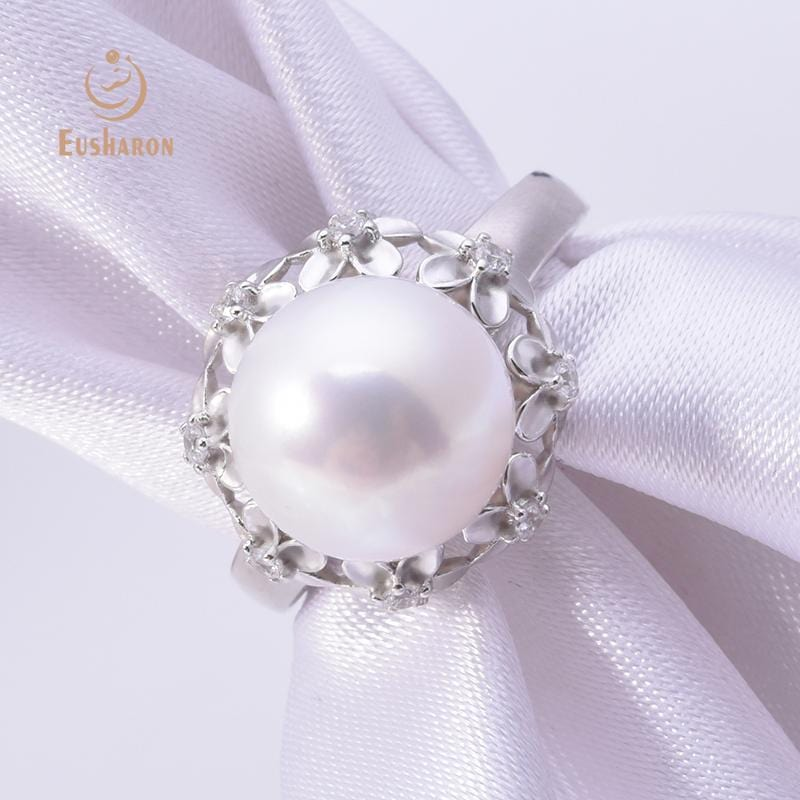 silver flower ring wholesale