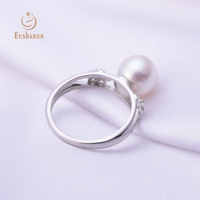 silver flower pearl ring wholesale