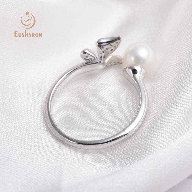 silver butterfly pearl ring wholesale