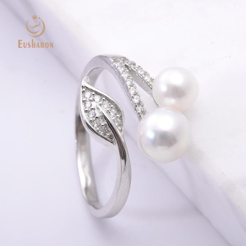 wholesale silver pearl rings