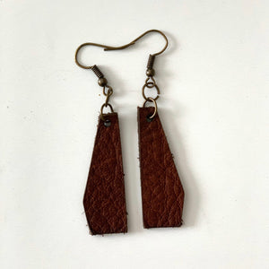 Solid Geometric Earring in Leather