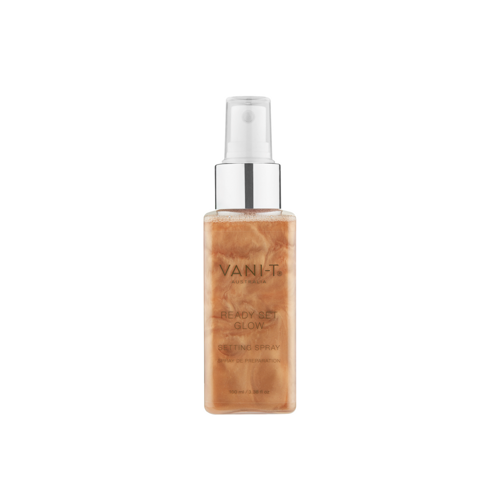 Ready-Set-Glow! Setting Spray med shimmer