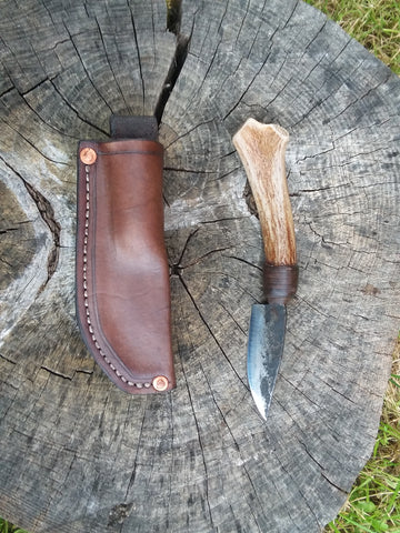 Antler Handle Hunting Or Field Knife