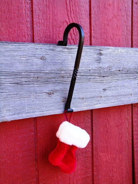 Enjoyable Fireplace Mantle Christmas Stocking Hanger Scrolled End Hand Forged Home Interior And Landscaping Pimpapssignezvosmurscom