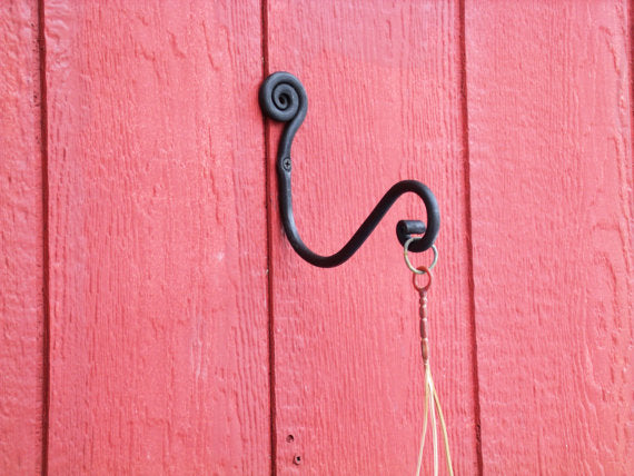 Plant Hanger, Fiddlehead Style Hand Forged