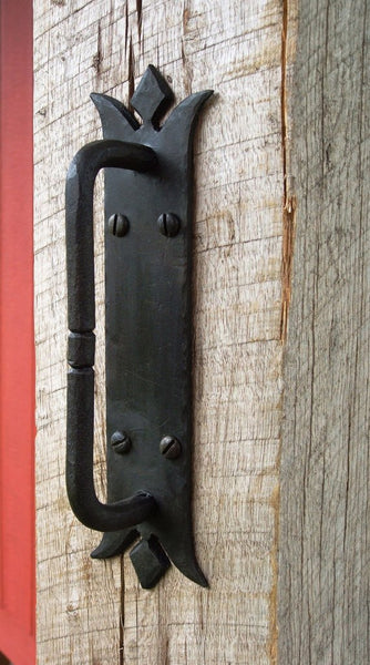 Door Pull, Norfolk Style, Hand Forged Wrought Iron