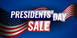 PRESIDENTS' DAY SALE 15% ON ALL ITEMS