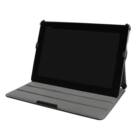 Black Leather Folio Case For ASUS Transformer Pad Infinity Stand TF700 / TF700T