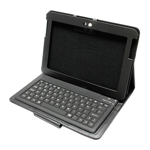 BLUETOOTH KEYBOARD Black Leather Folio Case For SAMSUNG GALAXY NOTE TABLET 10.1