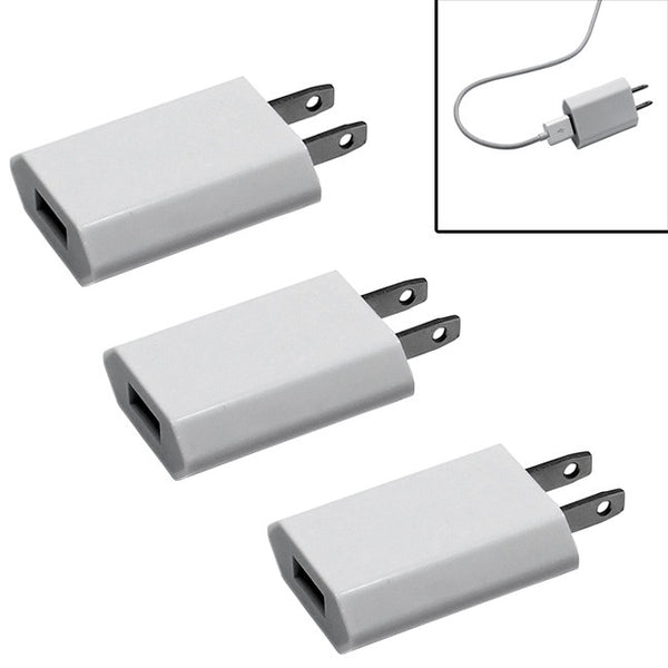 Pack of 3 Universal USB Power Home Wall Travel Charger Adapter for Iphone 6 6+ 5 5s 5c 4 4s Samsung Galaxy S6 Edge S5 S4 S3 S2 Samsung Note 2 3 4 Edge and Other USB Enabled Smartphones and Tablet Devices