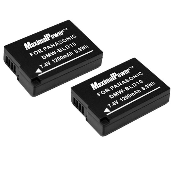 Pack of 2 Batteries for PANASONIC DMW-BLD10 DMW-BLD10E DMW-BLD10PP