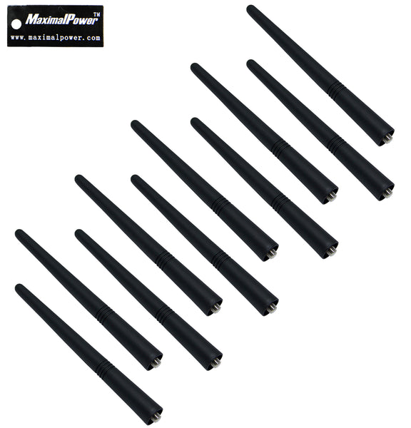 "10-Pack  MaximalPower™ 5.5"" VHF 136-174MHz Screw Antenna For Motorola CP200 HT1250"
