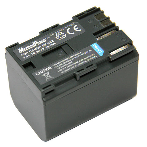 Camcorder Battery For CANON BP-522 BP522